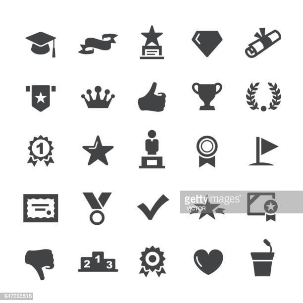 social achievement icons - smart series - achievement stock illustrations, clip art, cartoons, & icons