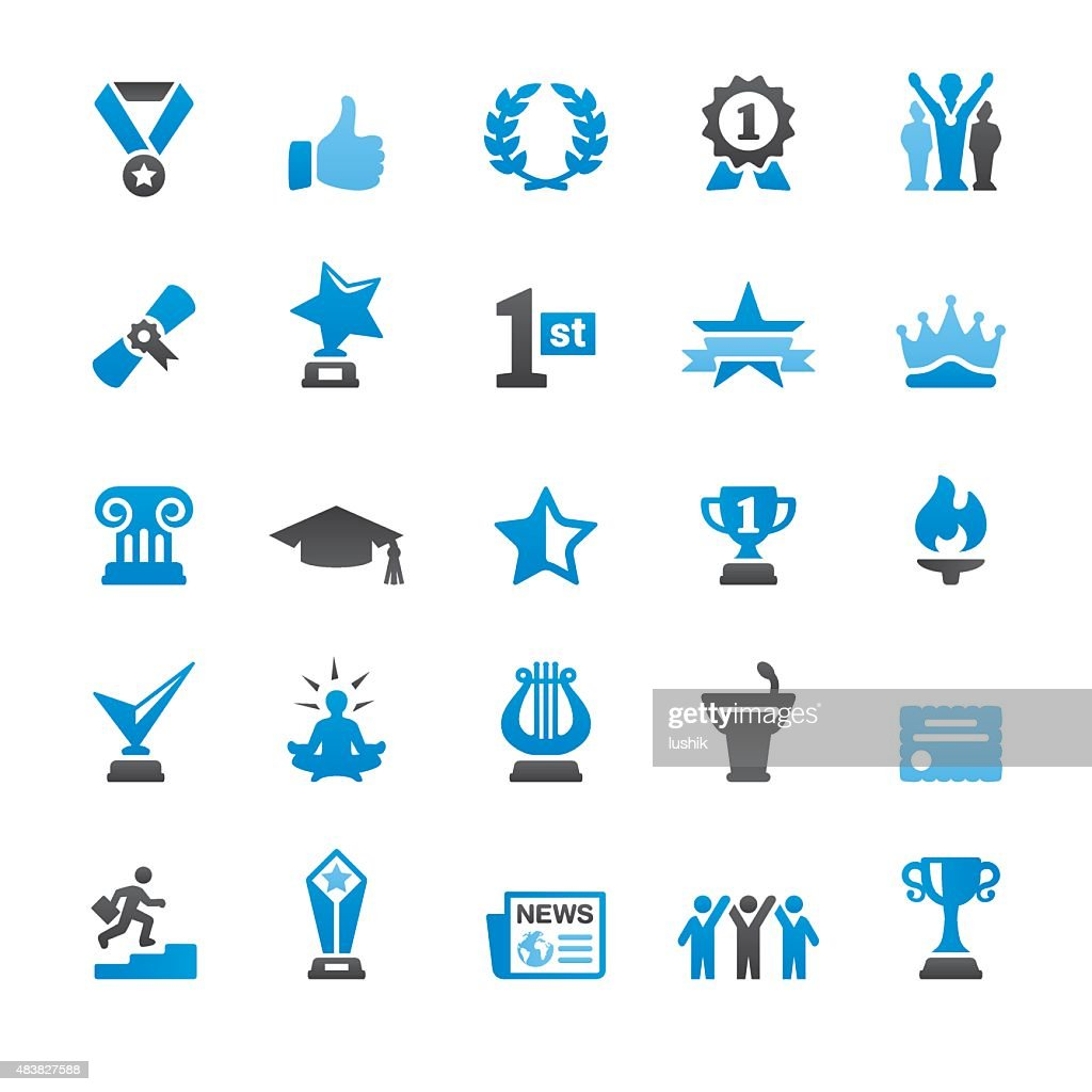 Social Achievement related vector icons