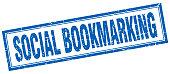 social bookmarking square stamp