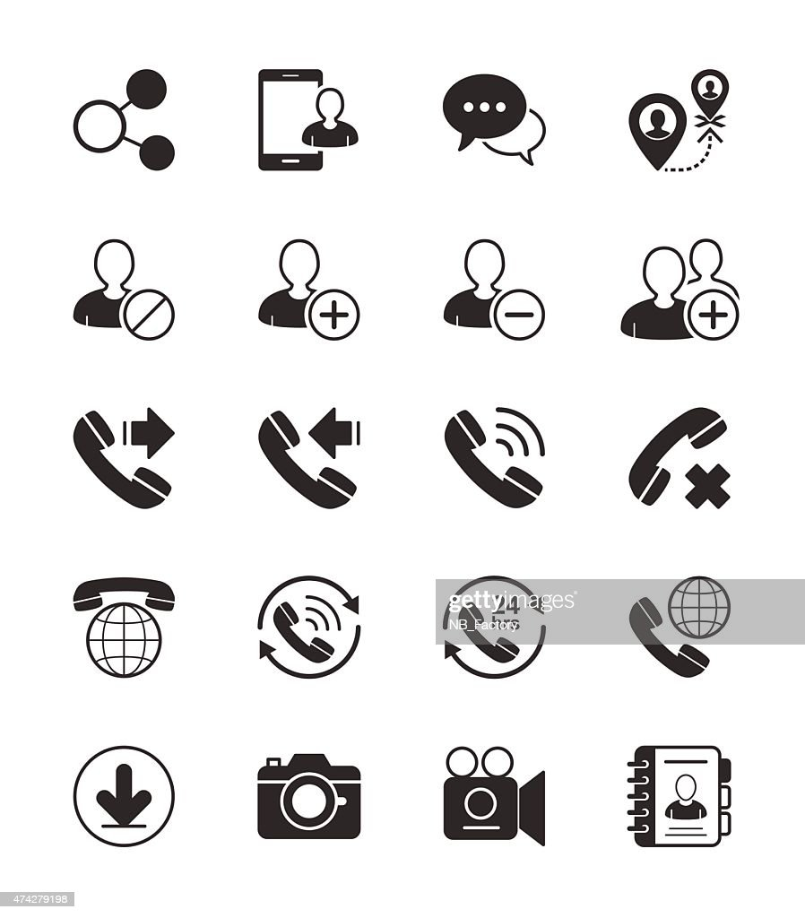 Social Communication icon on White Background Vector Illustration