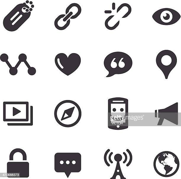 Social Communication Icons - Acme Series