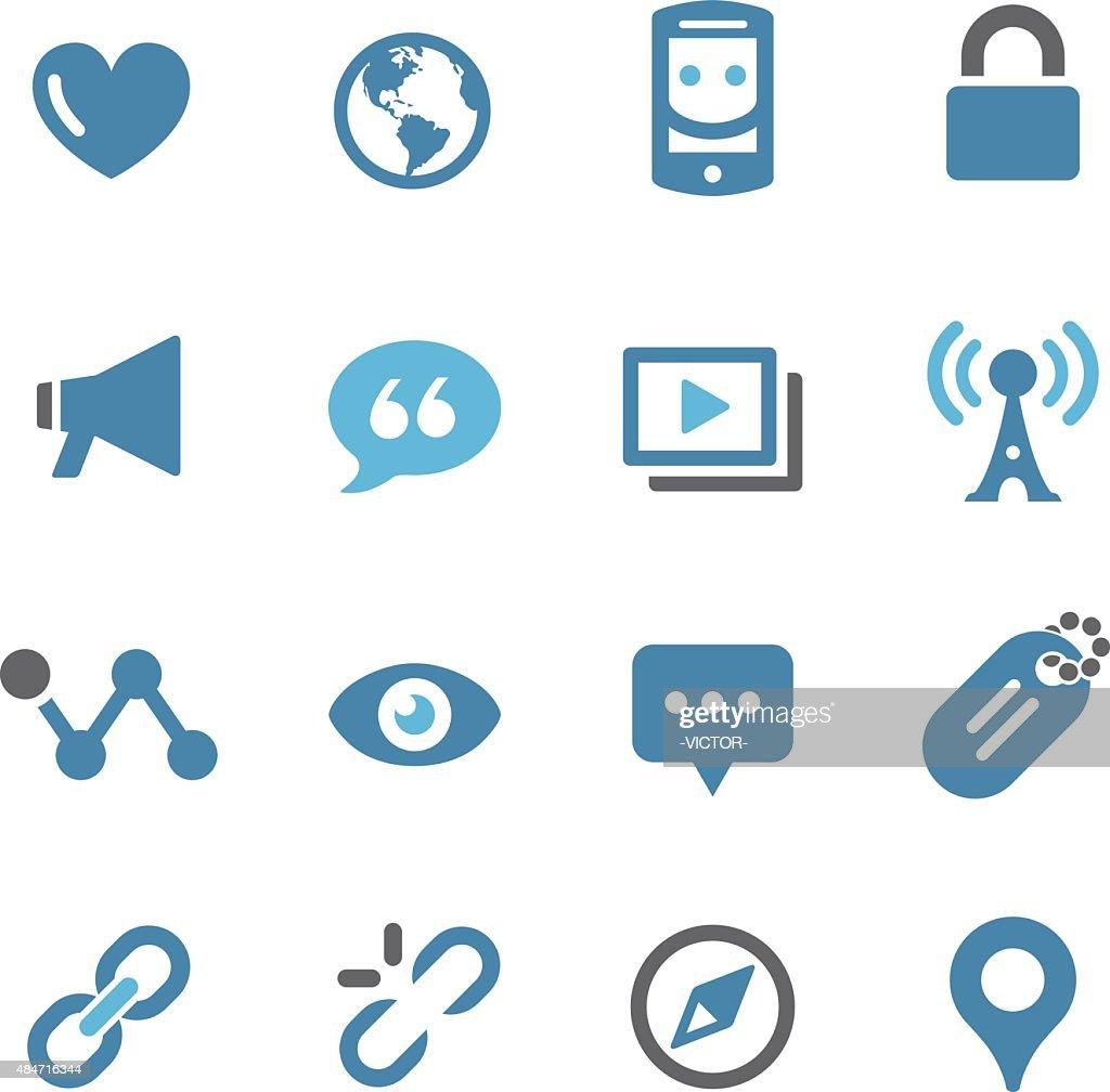 Social Communication Icons - Conc Series