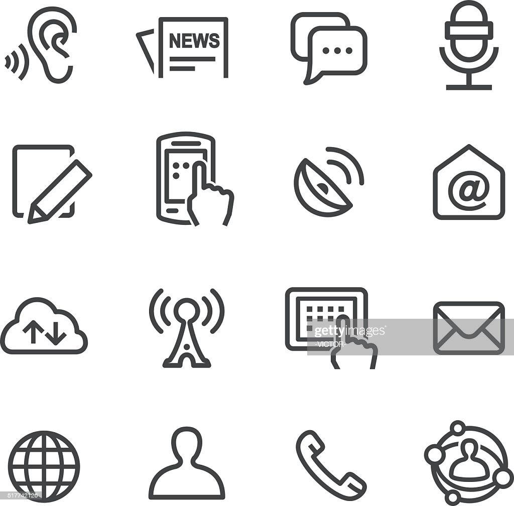 Social Communication Icons Set - Line Series : stock illustration