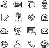 Social Communication Icons Set - Line Series