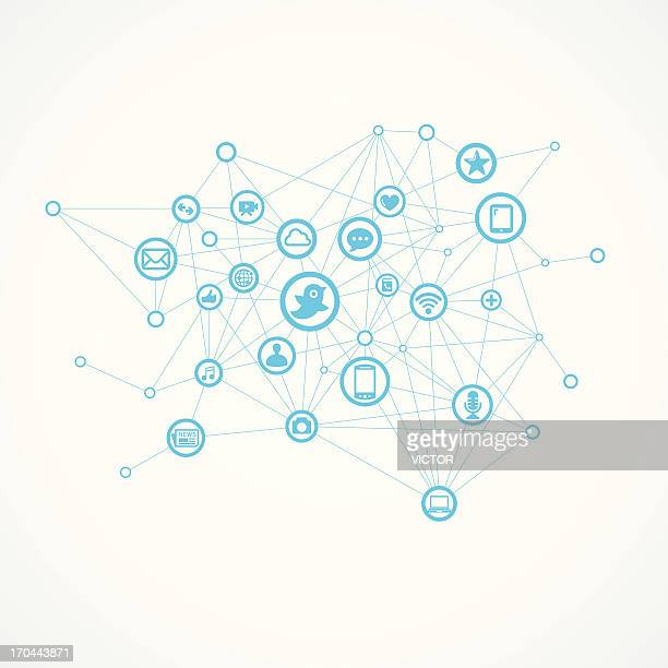 Social Communication Network (Blue)