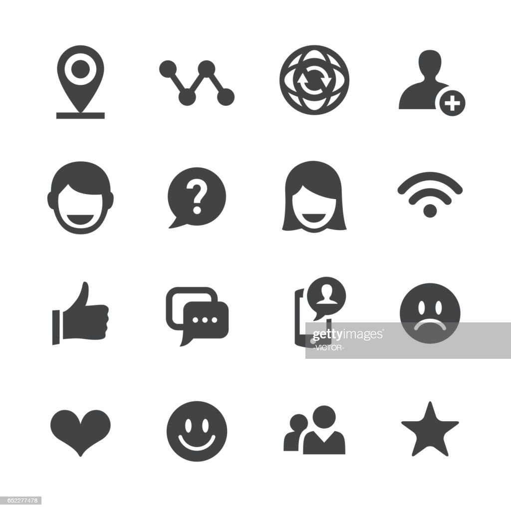 Social Communications Icons - Acme Series
