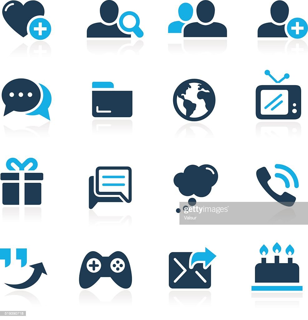 Social Communications Icons // Azure Series