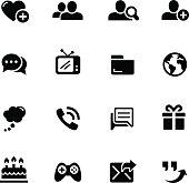 Social Communications Icons // Black Series