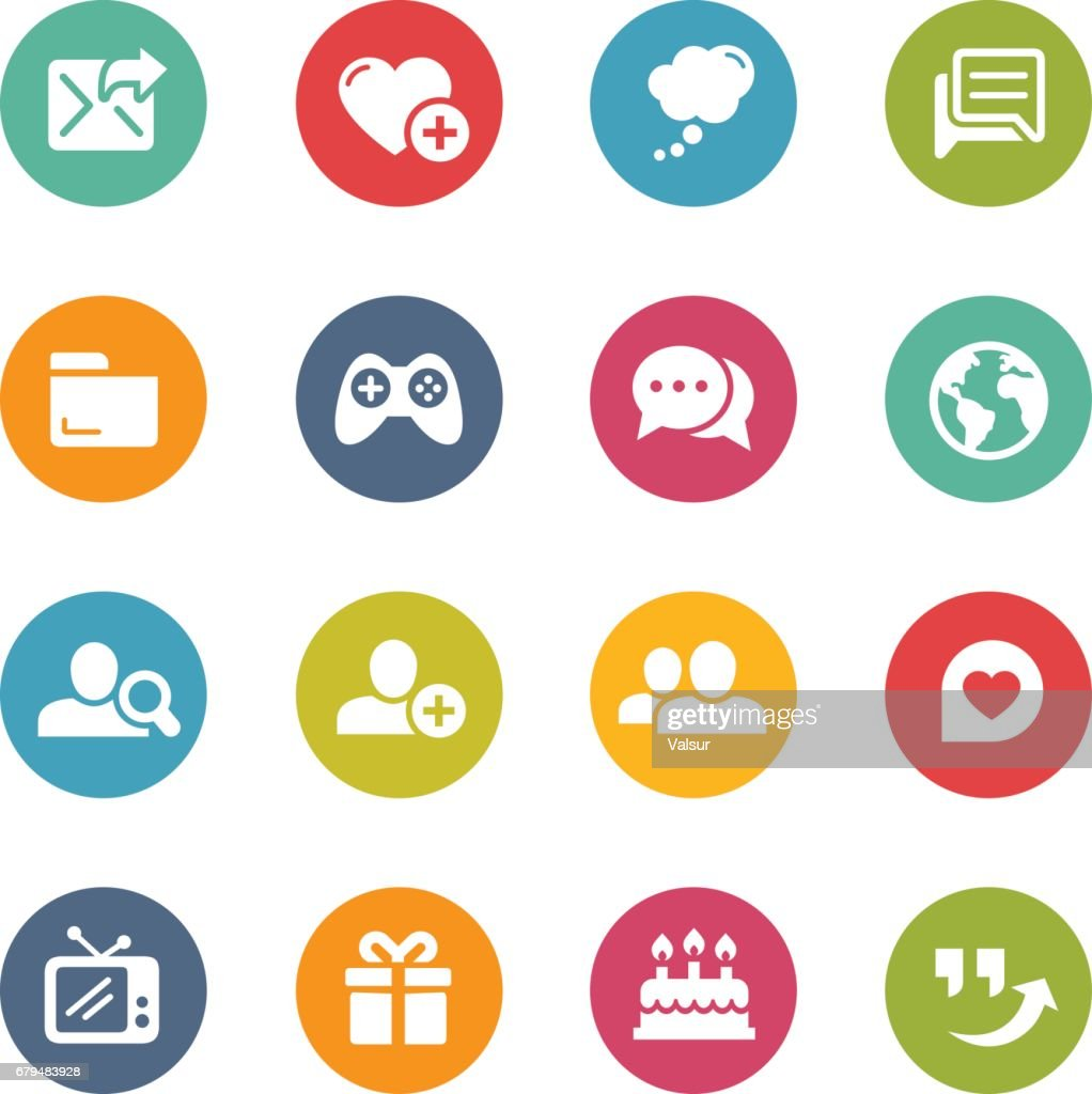 Social Communications Icons // Fresh Colors