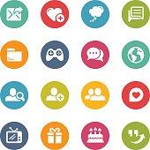 Social Communications Icons // Fresh Colors