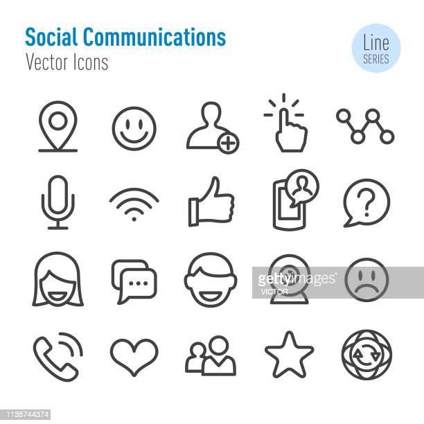 ソーシャルコミュニケーションアイコン-ベクターラインシリーズ - シンジケーション点のイラスト素材/クリップアート素材/マンガ素材/アイコン素材