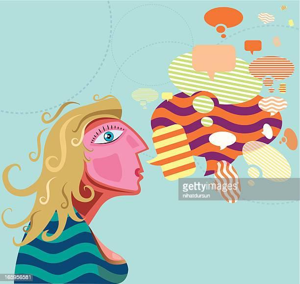 ilustrações de stock, clip art, desenhos animados e ícones de comunidade social com mulheres - cyberbullying