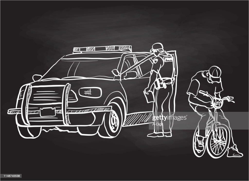 Social Crisis Chalk Drawing : stock illustration