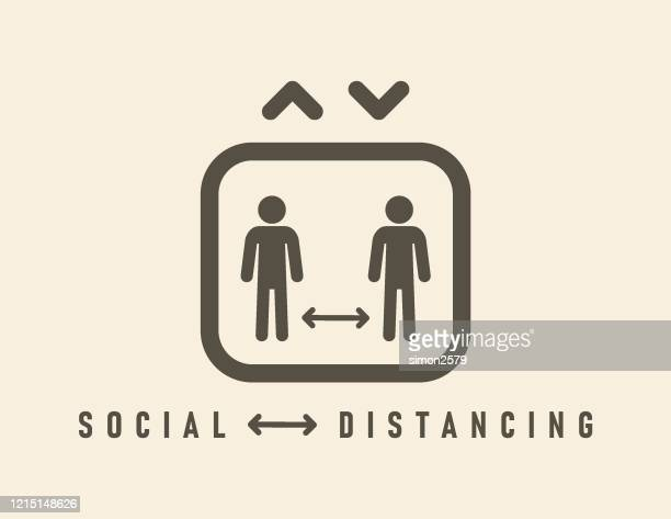 social distancing icon - social distancing stock illustrations
