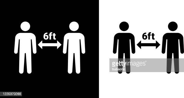 social distancing two people icon - social distancing stock illustrations