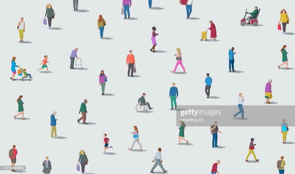 Sociaal distantiëren : Stockillustraties