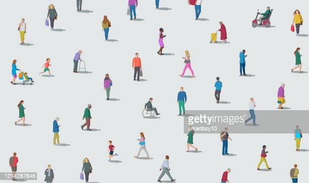 social distancing - people stock illustrations