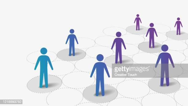 social distancing - illness prevention stock illustrations