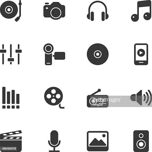 Social Entertainment icons - Regular