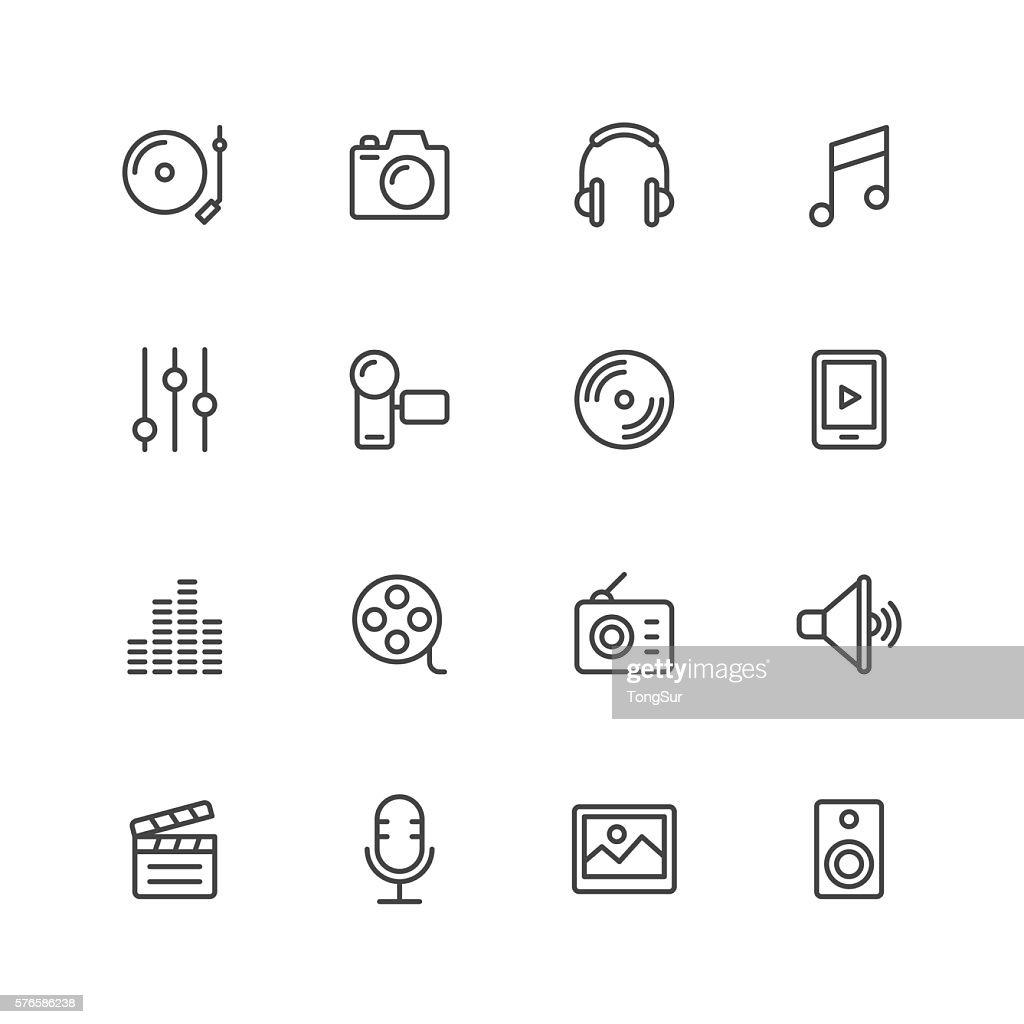 Social Entertainment icons : stock illustration