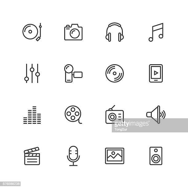 social entertainment icons - sheet music stock illustrations, clip art, cartoons, & icons