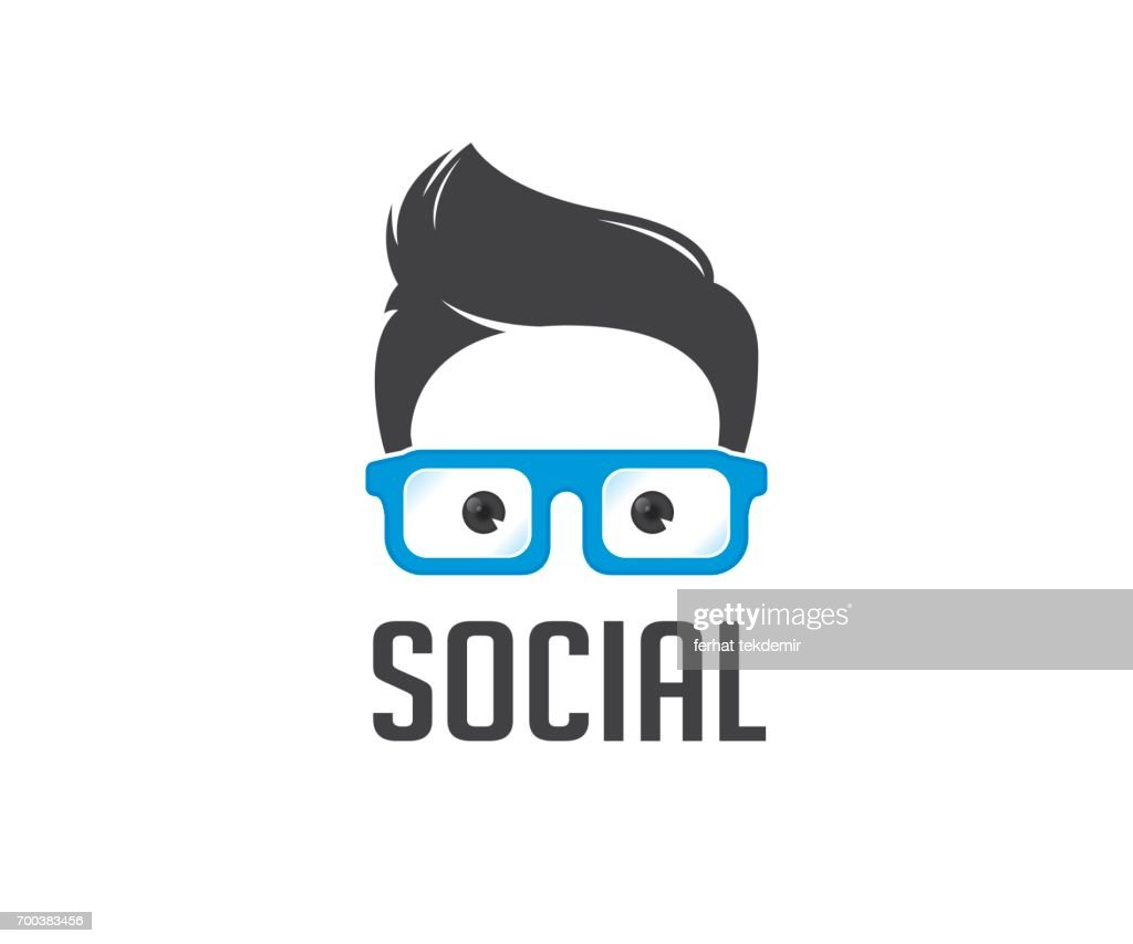 Social geek vector icon