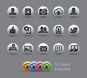 Social Icons - Pearly Series