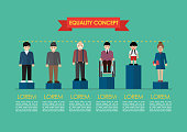 Social issue equality concept infographic