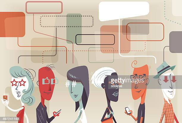 social looks - adulation stock illustrations, clip art, cartoons, & icons