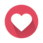 social love heart icon isolated on white background. Vector illustration.