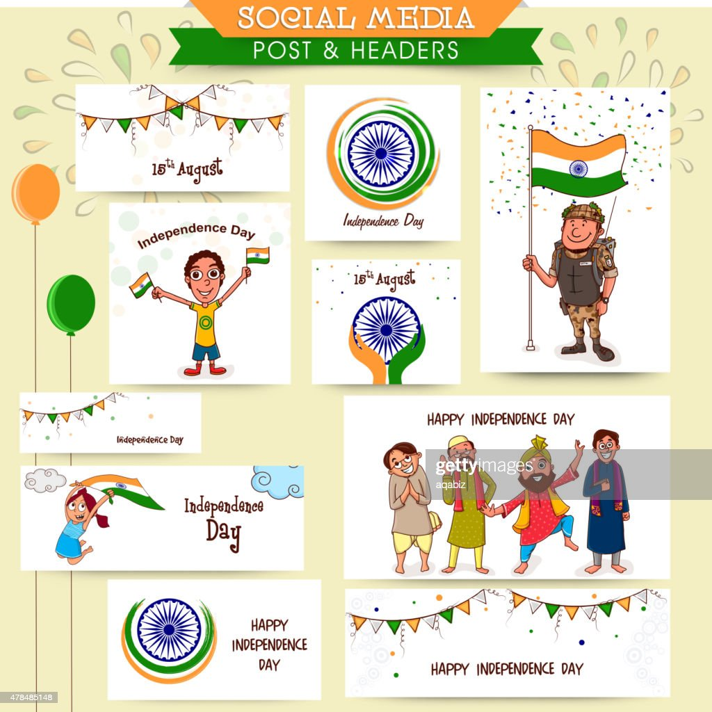 Social media ads or post for Independence Day celebration.