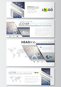 Social media and email headers set, modern banner templates. Cover