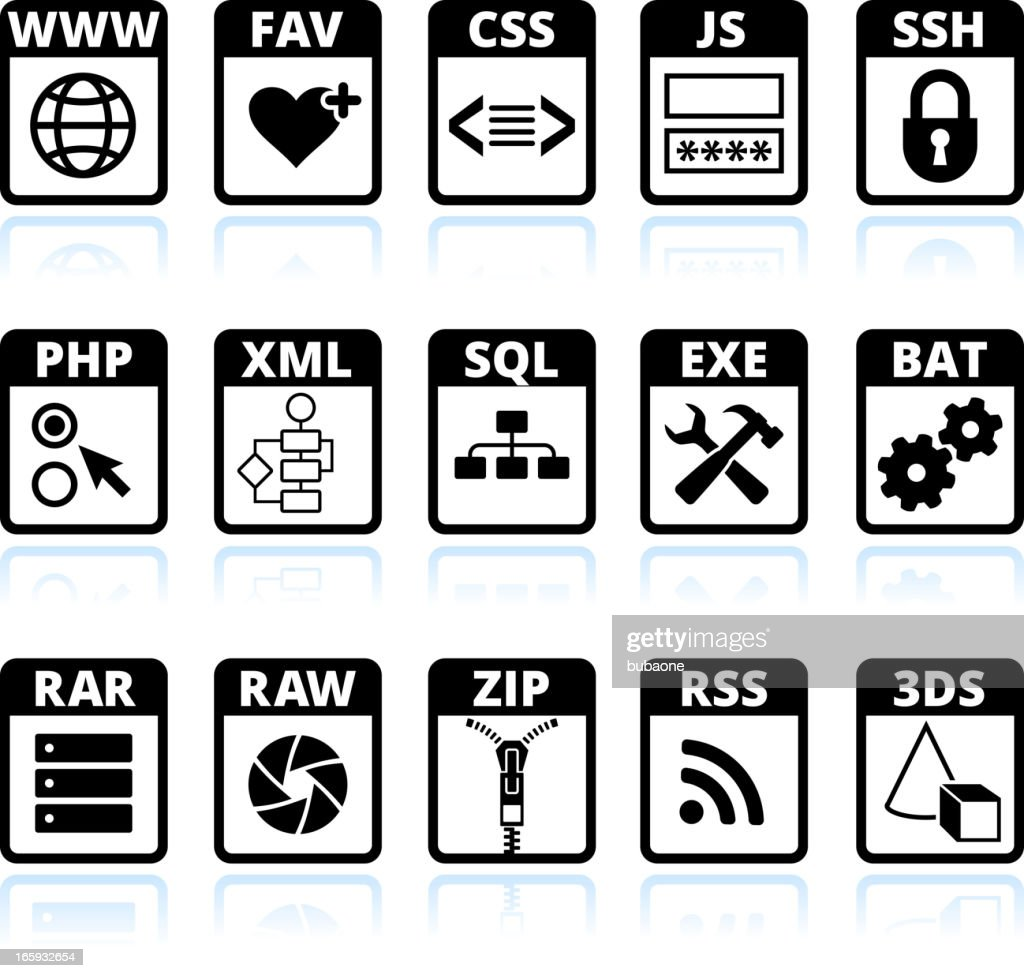 Social media and internet communications black & white icon set