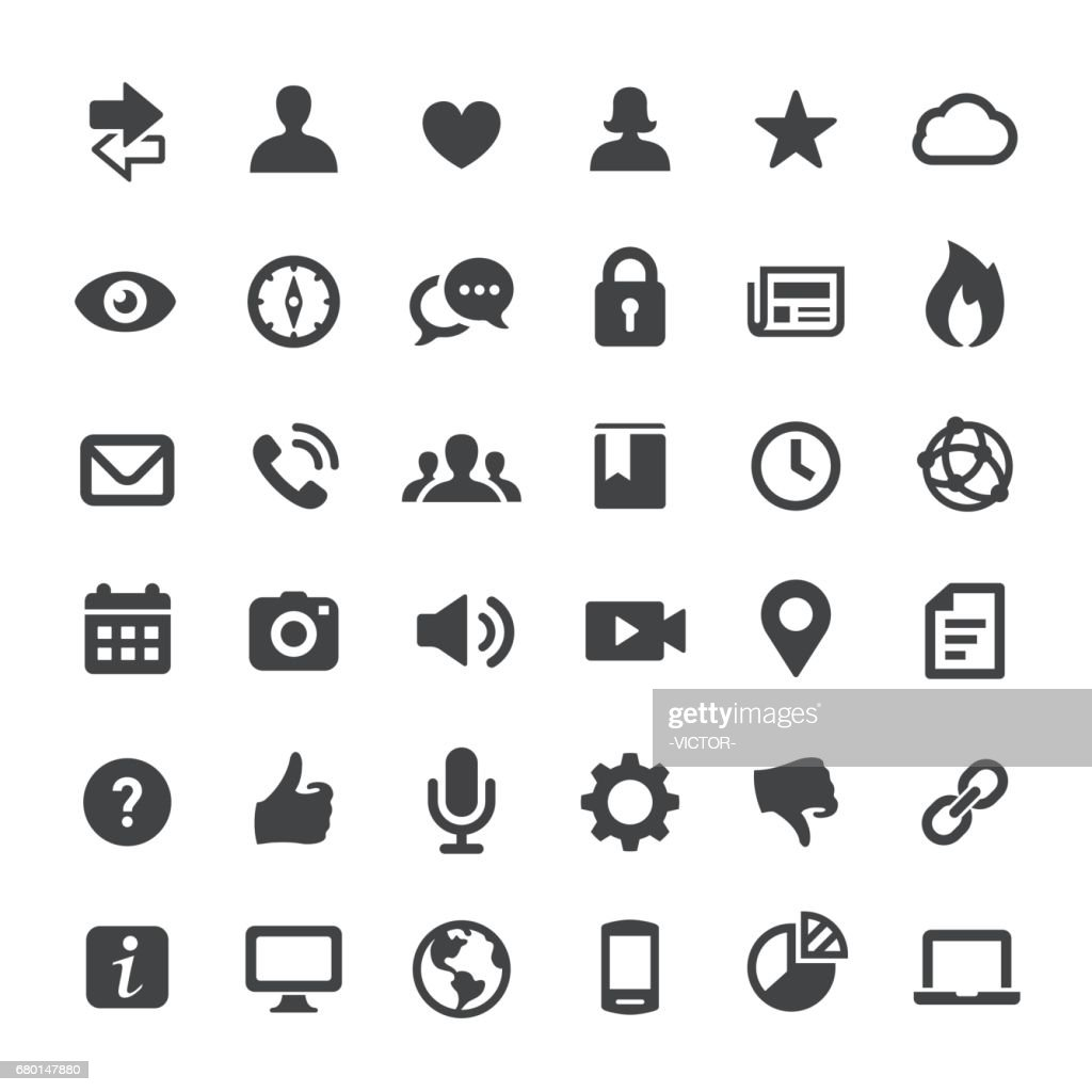 Social Media and Internet Icons - Big Series : Stock Illustration