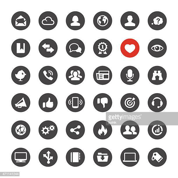 Social Media and Internet vector icons