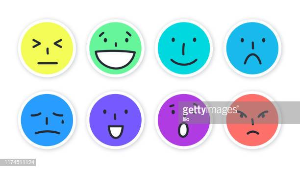 social media angry happy sad laughing face emojis - naughty america stock illustrations, clip art, cartoons, & icons