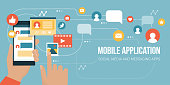 Social media app on a smartphone