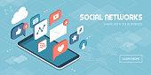Social media apps on a smartphone