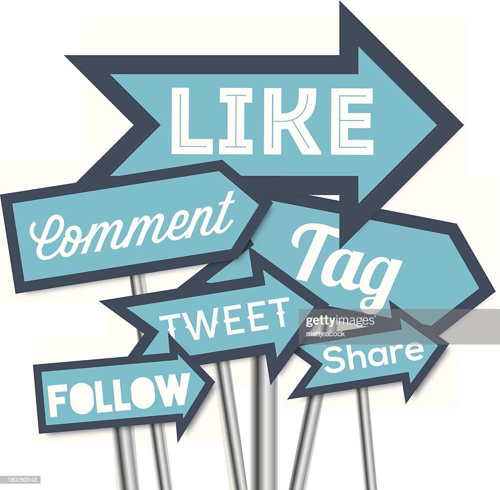Social media arrows