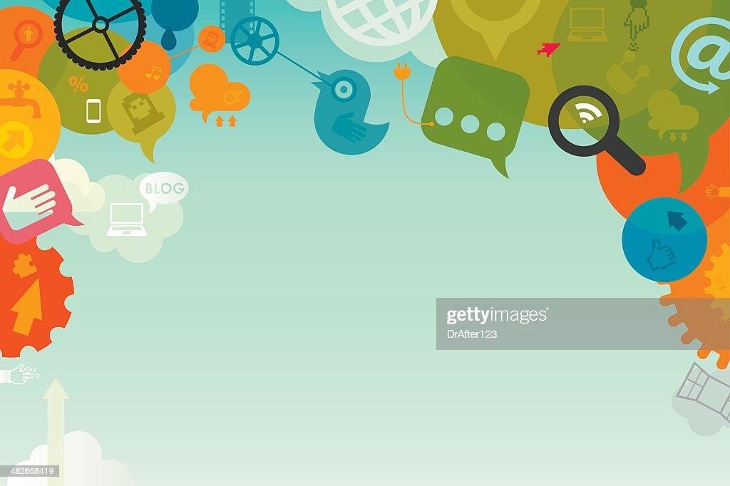 social media background vector art getty images