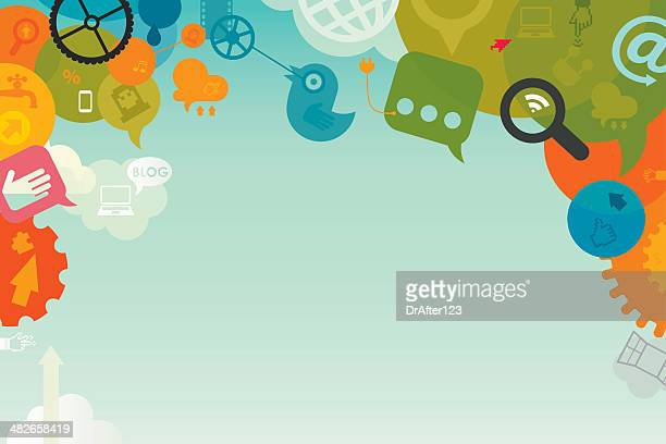 social media background - social media stock illustrations