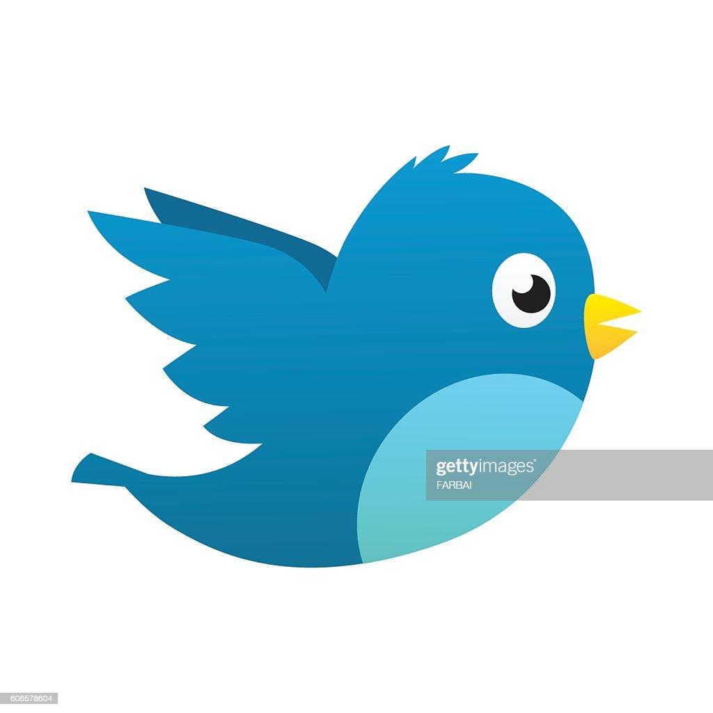 Social media blue bird