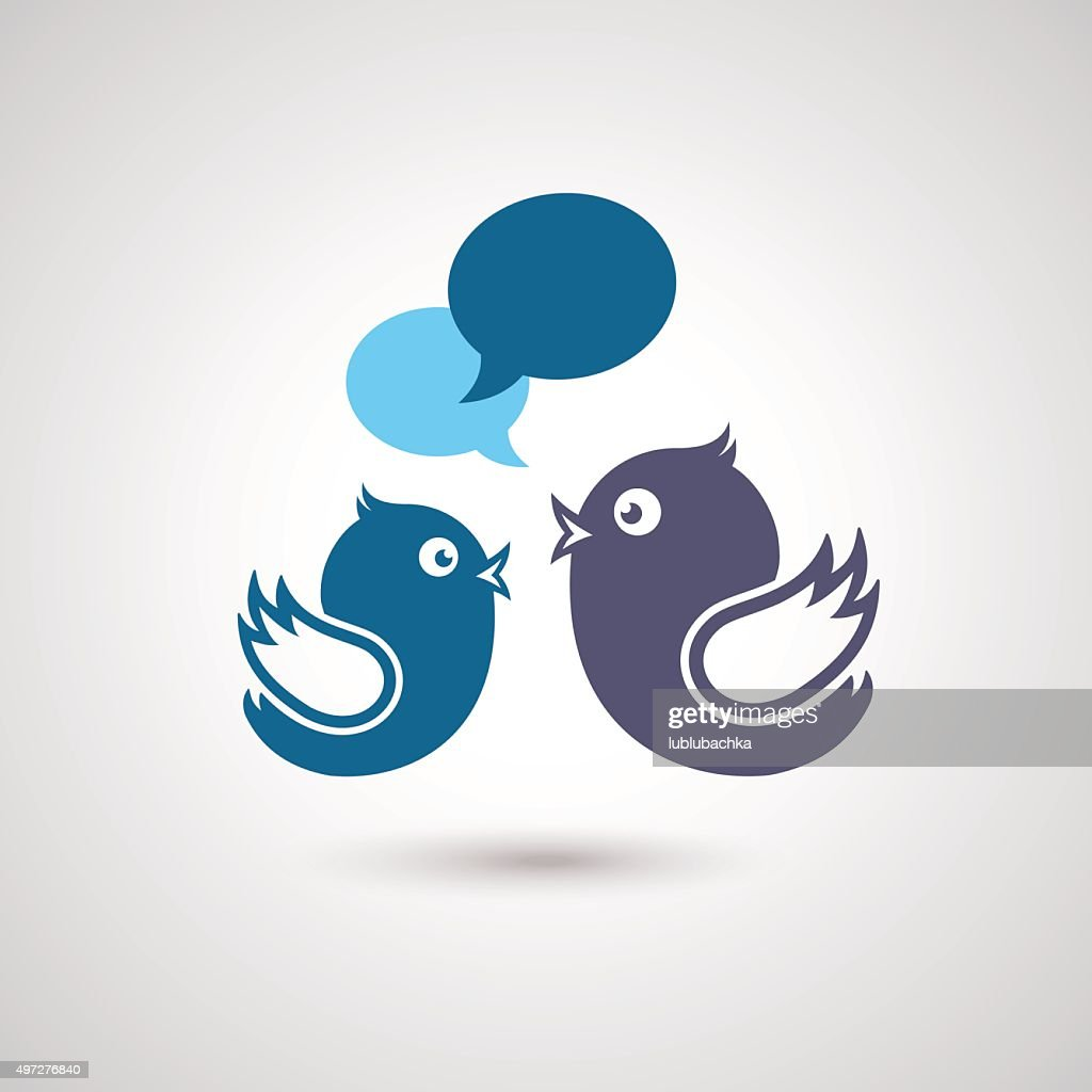 Social Media Communication. Illustration of social media