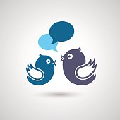 Social Media Communication. Illustration of social media