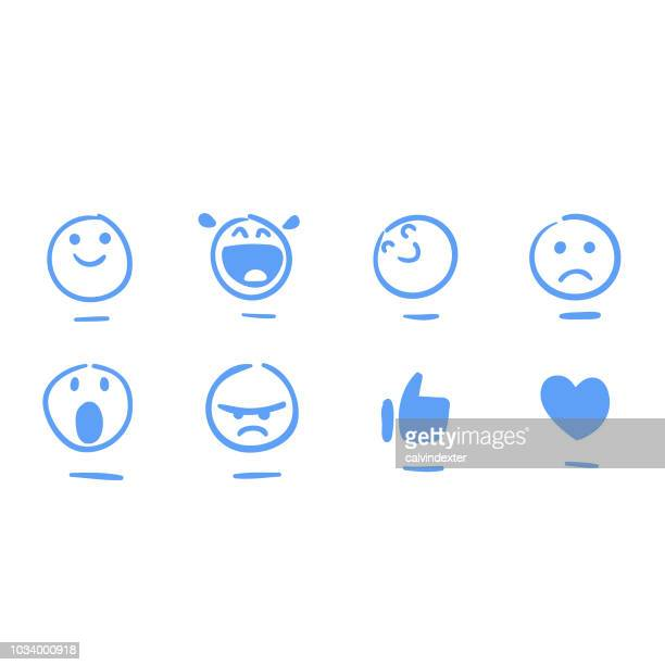 social-media-emoticons - lächeln stock-grafiken, -clipart, -cartoons und -symbole