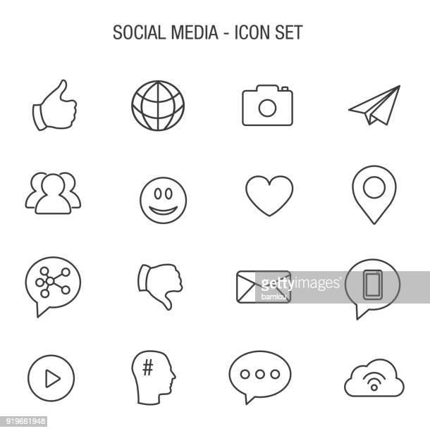 社会アイコンを設定します。 - snsアイコン点のイラスト素材/クリップアート素材/マンガ素材/アイコン素材