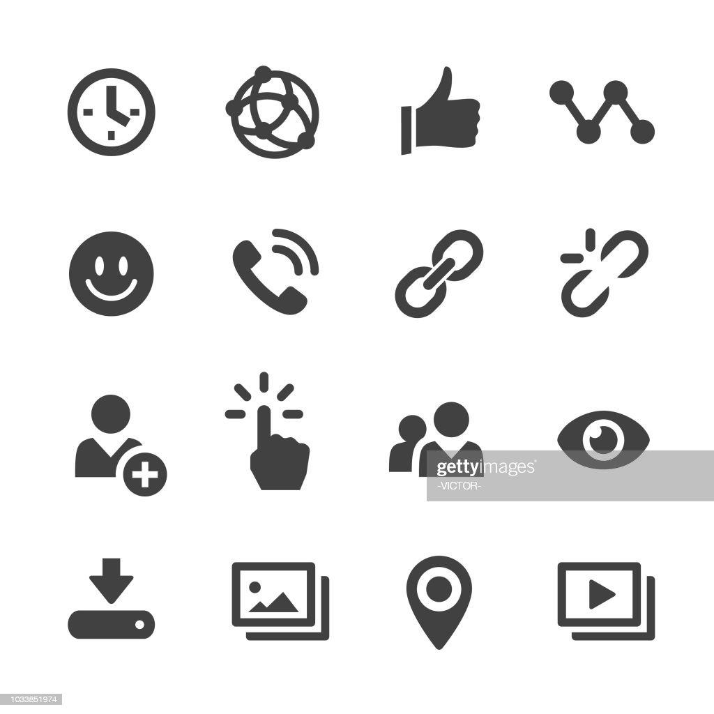 ソーシャルメディアのアイコン-Acme シリーズ : ストックイラストレーション