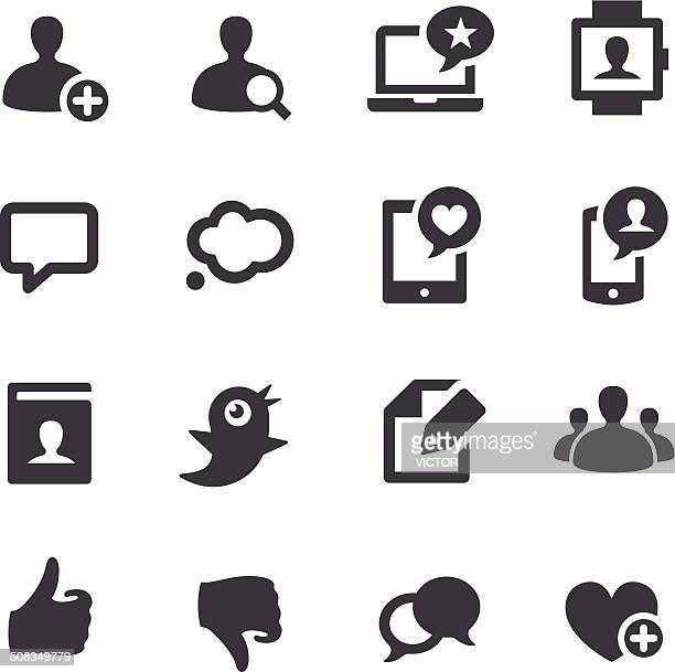 social media icons - acme series - thought bubble icon stock illustrations