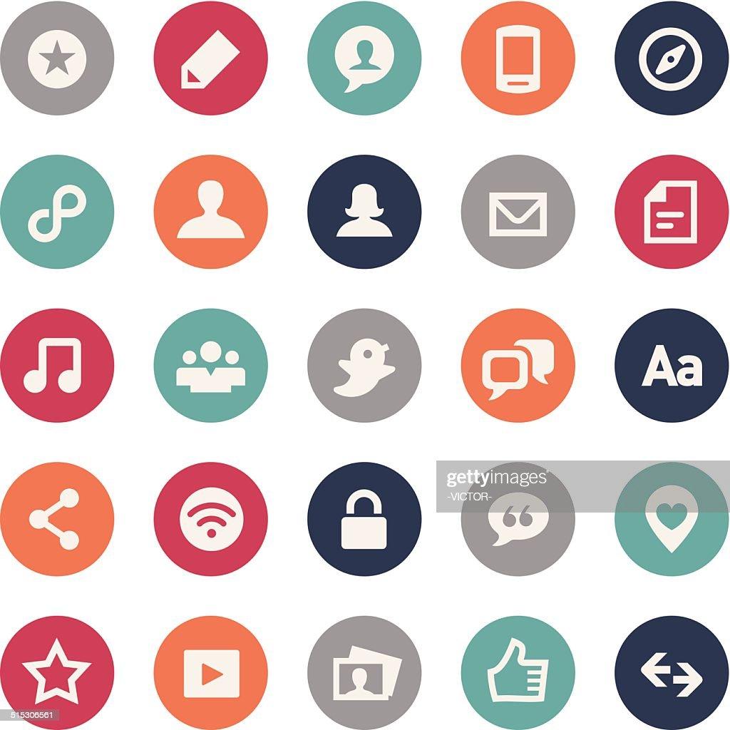 Social Media Icons - Bijou Series