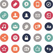 Social Media Icons - Bijou Series